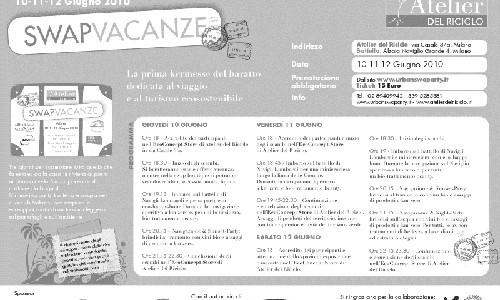 Swap Vacanze Milano @ bio-happy-hour puoi barattate l'estate e cercate vacanze eco-nomiche