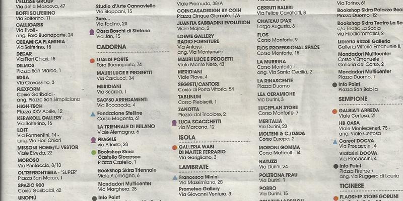 Calendario eventi Milano DesignWeekend