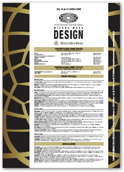 Fuori Salone 2011: eventi 11 aprile anche con Milano Moda Design e i 125 anni di Mercedes Benz