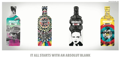 ABSOLUT BLANK per la creatività contemporanea