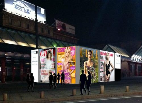 Una Settimana della Moda al Cubo nel temporary Hearst Fashion Box di Piazza Cadorna