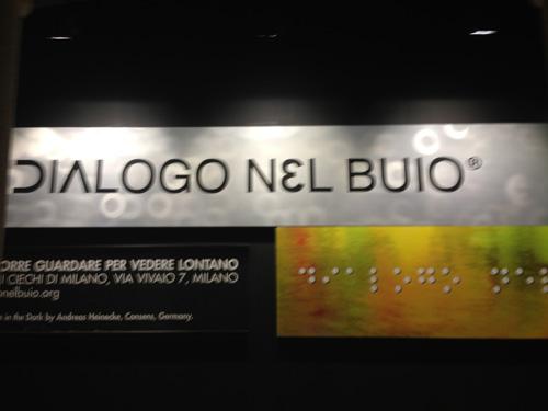 Dialogo nel buio, una mostra contemporanea senza immagini