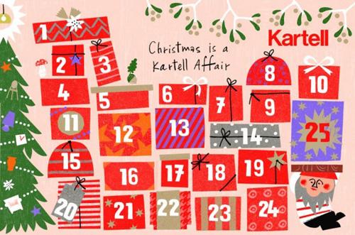 Un Kalendario dell'Avvento Kartell-milanese