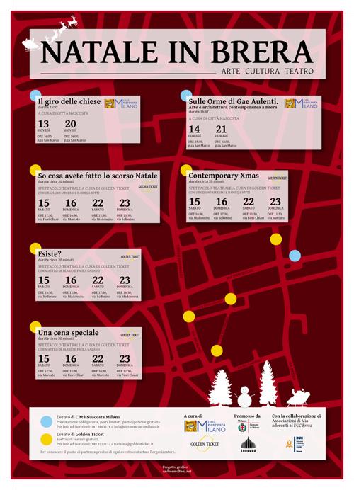 Natale in Brera, una Milano nascosta e contemporanea