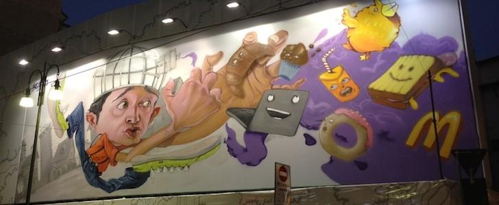 Street Art e un panino in via Torino