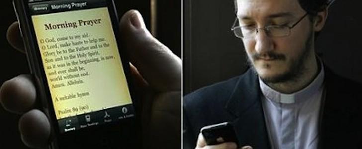 A Milano si prega con tablet e app