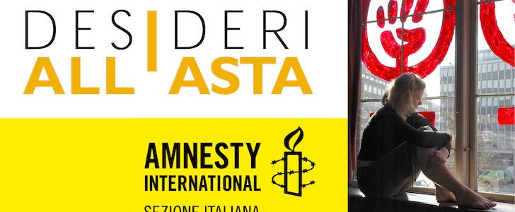 Stop al femminicidio con Amnesty International e i suoi Desideri all'asta