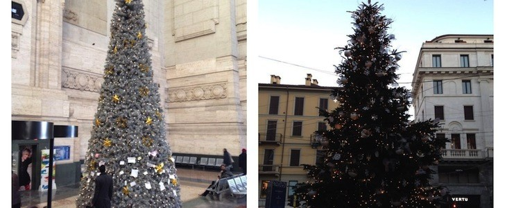 Alberi di Natale molto contemporanei a Milano