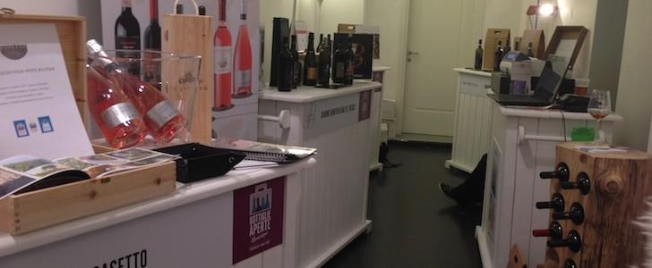 Bottiglie Aperte e Temporary Di-vini in Ticinese per un Wine-Shop