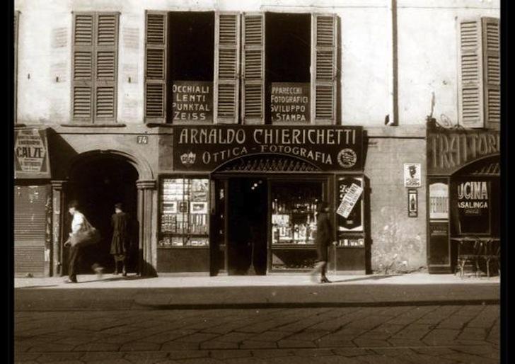Chierichetti, Il primo negozio