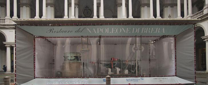 Brera works in progress: Napoleone smontato e tutti a vedere i lavori (le foto)