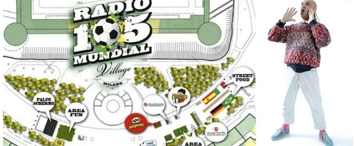 Kalabrugovic show al Radio 105 Mundial Village Milano. E' davvero la Milano dei Pino dei Palazzi?