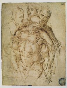 ANDREA MANTEGNA  - Cristo in pietà sorretto dalla Madonna, Maria Maddalena e san Giovanni Evangelista - Venezia,  Gallerie Accademia.jpg