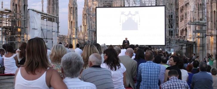 Cinema all'aperto Milano, lunedì e mercoledì sera  tra le guglie del Duomo