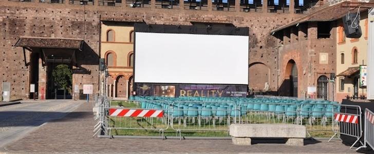 Cinema all'aperto Arianteo; al Castello aperto tutto agosto