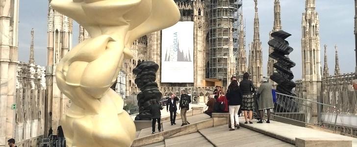Expo 2015 porta l'Arte contemporanea sul tetto del Duomo di Milano: ecco le sculture di Tony Cragg tra le guglie e la Madonnina!