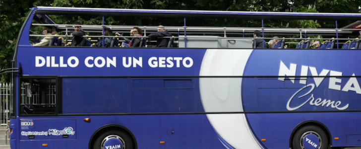 Nivea Blue Bus