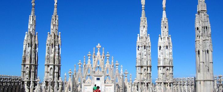 Duomo Milano terrazze guglie