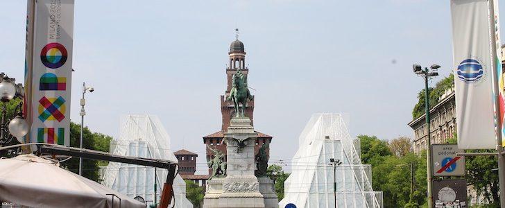 Milano smonta l'Expo Gate: 5 cose che non sapete sulle piramidi di Piazza Castello, ecco come diventerà!