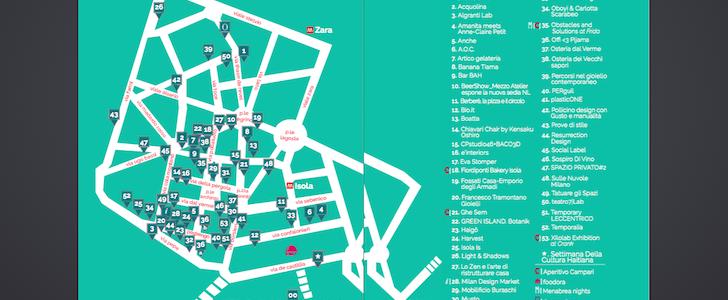 Isola Design District: la mappa del Fuorisalone