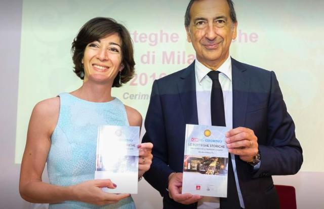 L'assessore Cristina Tajani e il sindaco Beppe Sala alla presentazione del libro