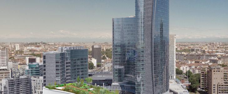 Un rooftop su Gae Aulenti: a Milano nasce il giardino sospeso