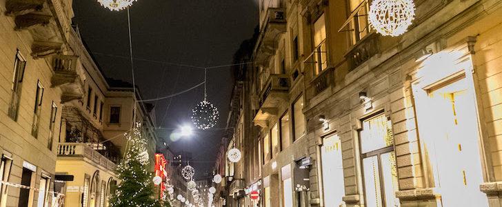 Natale 2017 in via Montenapoleone a Milano: cosa non perdere!