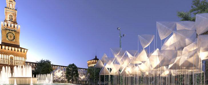 Fuorisalone 2018 in Piazza Castello: l'installazione PiuArch