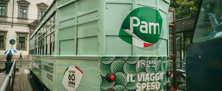 """Pam Tram: supermercato e aperitivi sul """"Ventotto"""" per i 60 anni del marchio"""