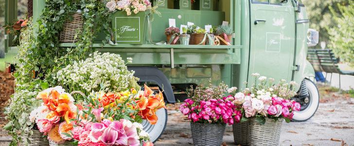 """APINA Flower Bar, la prima """"ape"""" itinerante è a Milano, by silviadeifiori"""